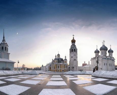 Вологда Соборная площадь зимой