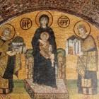 Богородица с имп Константином и Юстинианом св_София 944г