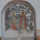 Фреска святой великомученицы Анастасии и святой великомученицы Параскевы,  восстановленная в мастерской Грековых