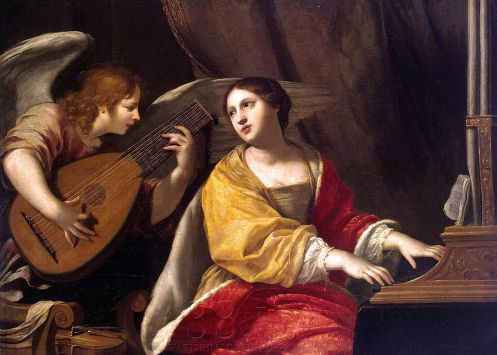 ERM - 1314 -- Jacques Blanchard - St Cecilia  (The Hermitage, St. Petersburg)