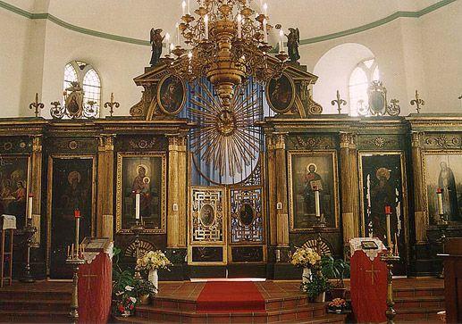 Иконостас церкви святых Иннокентия Иркутского и Серафима Саровского в Бад-Наугейме