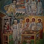 085 Санта-Мария Маджоре, Рим, V в. Ветхозаветные сюжеты. Явление Трех Ангелов Аврааму