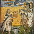 086 Санта-Мария Маджоре. Рим. V в. Ветхозаветные сюжеты. Мельхиседек встречает Авраама