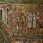 092 Санта-Мария Маджоре. Рим. Vв. Мозаики триумфальной арки. История Рождества, фрагмент