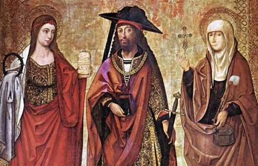 Лазарь с сестрами Марфой и Марией Испания 15 век