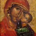 49 Явленная  икона Толгской Богородицы, фрагмент, конец XIII в.