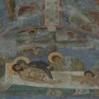 54 Положение во гроб, фреска Мирожского монастыря