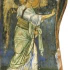 56 Архангел Гавриил, фреска Мирожского монастыря