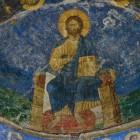 57 Спас Судия на престоле. Фреска Мирожского монастыря
