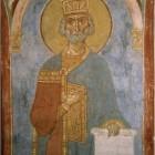 68 Пророк Давид, фреска церкви Старой Ладоги