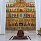 88 Современный многоярусный иконостас храм равноапостольных Константина и Елены. Абакан