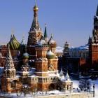 Москва собор Василия Блаженного зима
