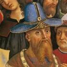 03 Фома Палеолог, отец Софьи. Пинтуриккио, фреска в соборе Сиены