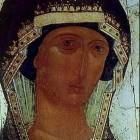 14 Дионисий. Донская Богородица. Фрагмент около 1500