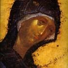 25 Богородица из Деисиса иконостаса Благовещенского собора Кремля 1392-1410, Феофан Грек
