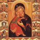 29 Богородица Владимирская XVI-XVII в. Строгановская школа