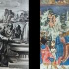 34 Очищение Иерихонского источника - гравюра и фреска ц. Ильи Пророка. Ярославль