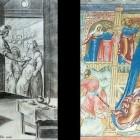 35 Воскрешение пророком Елисеем сына сонамитянки - гравюра и фреска ц. Ильи Пророка