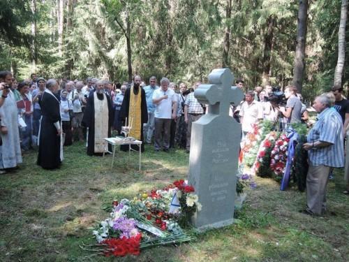 Левашовское кладбище Крест Первая мировая освящение Владимир Сорокин