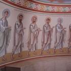 12 Нижний храм Федоровского собора. Апостолы,  роспись алтаря