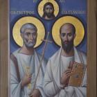 16 Апостолы Петр и Павел. Энкаустическая икона. Архимандрит Зинон