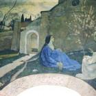 19 Нестеров. Марфо-Мариинская обитель. Христос у Марфы и  Мария