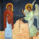 54 Страстное Благовещение.  Фреска сестры Иоанны (Рейтлингер)