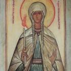 58 Св. прп. Геновефа Парижская. Икона мон. Григория (Круга)