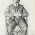 74 Дмитрий Стеллецкий.  Рисунок Б.Кустодиева. 1907 г.