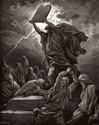 Гюстав Доре Моисей разбивает скрижали