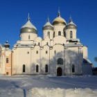 Новгород Софийский собор зима