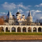 Новгород Ярославово дворище осень