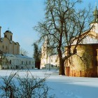 Новгород Ярославово дворище зима