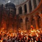 Иерусалим храм Воскресения огонь 2