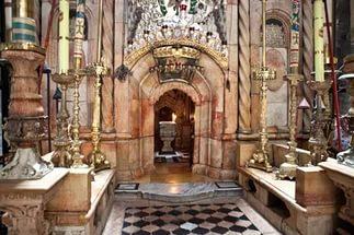 Иерусалим храм Воскресения вход в кувуклию