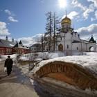 Саввы Сторожевского монастырь храм Рождества Пресвятой Богородицы зима