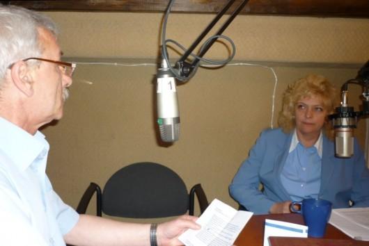 Светлана Агапитова в студии радио Град Петров
