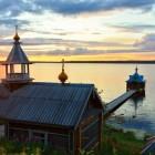 Важеозерский монастырь озеро лето