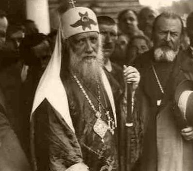 патриарх Тихон с народом