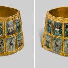 Браслет с перегородчатой эмалью на золоте. Около 900 г. Музей Византийской культуры, Фессалоники