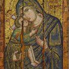 Мозаичная икона «Богоматерь Эпискепис», 1300 г. Византийский и Христианский музей в Афинах