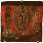 Икона «Преображение Господне» (фрагмент эпистиля). Первая половина XII в. Византия, Афон. Дерево (каштан), левкас, темпера. Государственный Эрмитаж