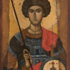 Икона «Святой Георгий». Середина XIV в., Византия. Дерево, левкас, темпера. Византийский и Христианский музей, Афины