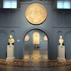 «Павлины по сторонам канфара с виноградными побегами». Центральынй медальон напольной мозаики в частном доме в Фтиотиде. Византия. Поздний V – ранний VI в.  Византийский музей Фтиотиды