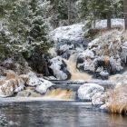 Рускеала водопад зимой