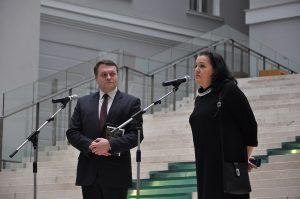 Светлана Борисовна Адаксина и проректор СПбГУ Алексей Алексеевич Заварзин