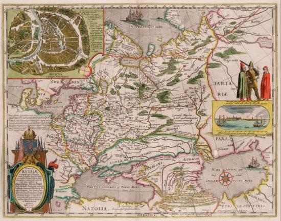 Карта Фёдора Годунова, изданная Герритсом в Амстердаме