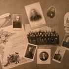 Портреты преподавателей и выпускников Петроградской Духовной академии (74-й выпуск. 1917)