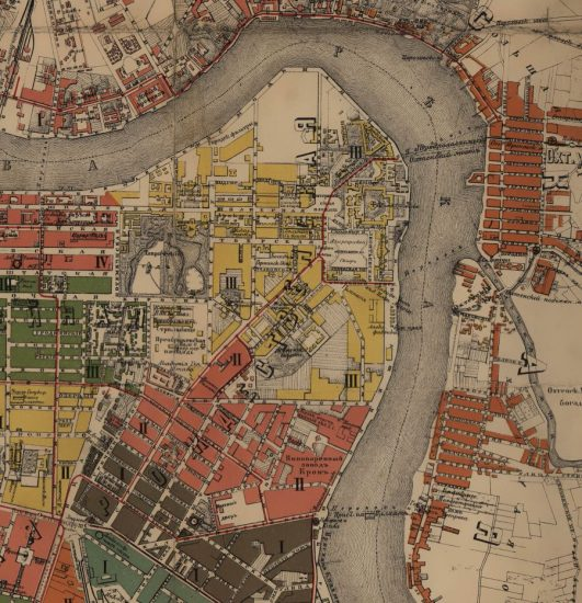 Рождественская часть Петербурга на карте 1905 года