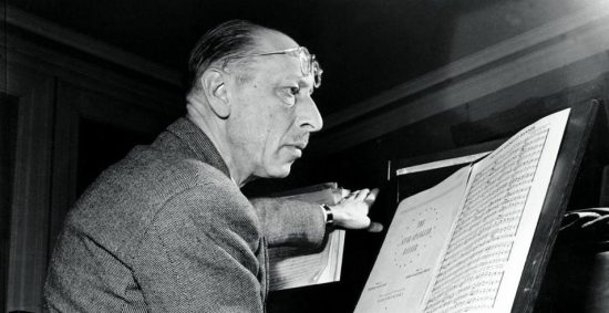 Russian composer Igor Stravinsky poses in Boston Jan. 12, 1944. (AP)
